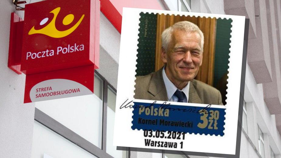 Kornel Morawiecki na znaczku pocztowym