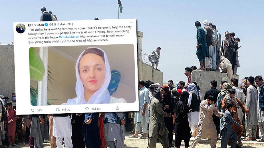 Kobieta burmistrz w Afganistanie: Będą przychodzić po takich jak ja i zabijać (fot. Twitter/Elif_Safak)