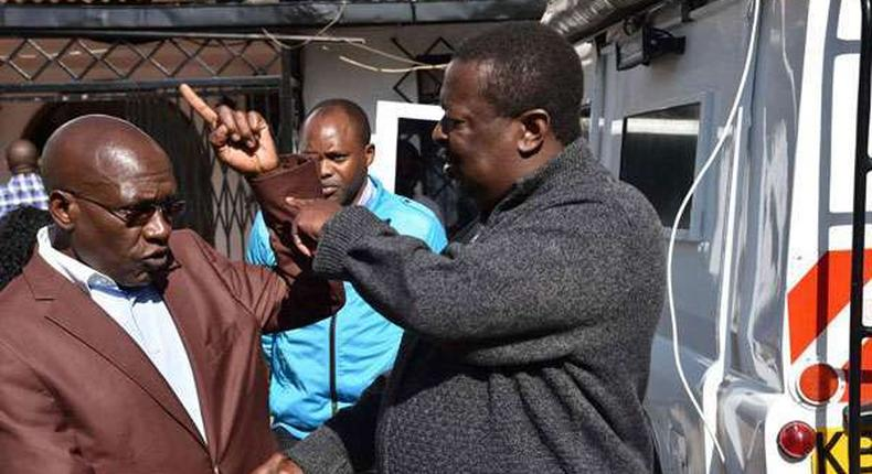 File image of Bonny Khalwale with Musalia Mudavadi at a past event