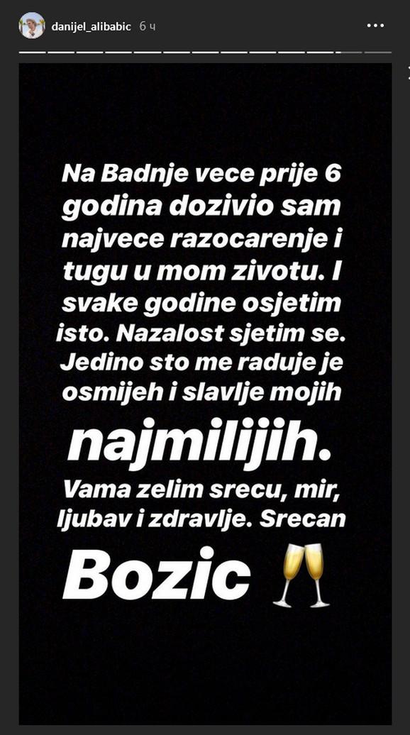 Poruka Danijela Alibabića