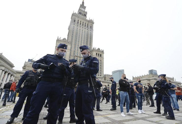 Protest, Varšava, Poljska