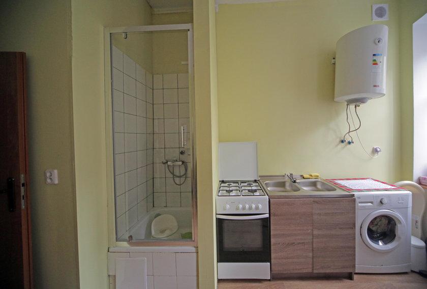 W części lokalu powstała kuchnia z łazienką