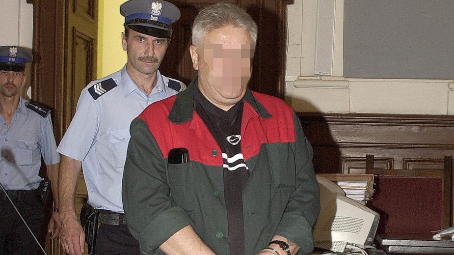 Mirosław D., pseudonim Malizna na sali sądowej w 2003 r.