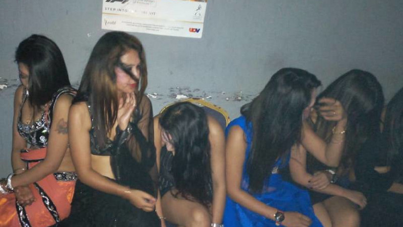 Some of the 12 Nepalese women arrested during a police raid at popular Rangeela grill and bar at Amkay Plaza in Nyali-Mombasa