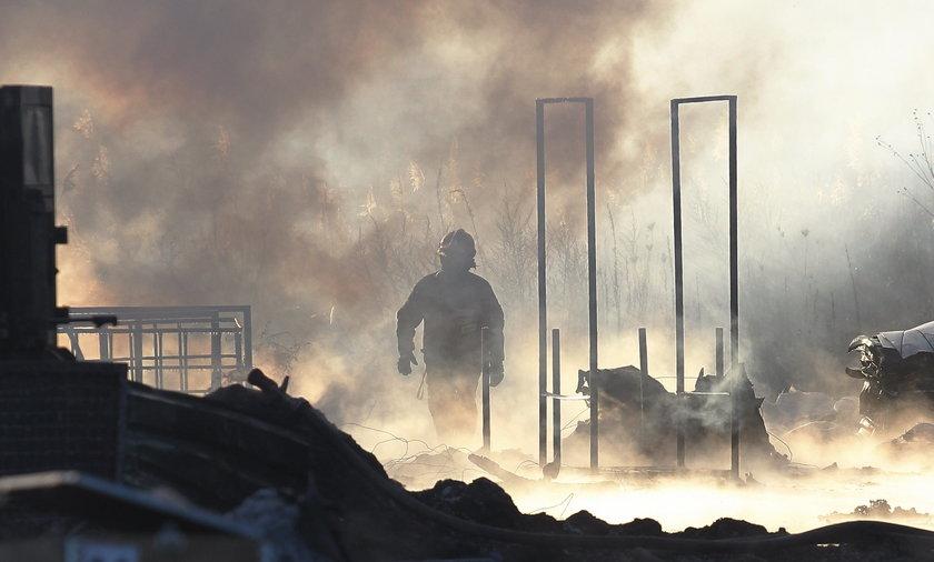 Pożar w Markach pod Warszawą