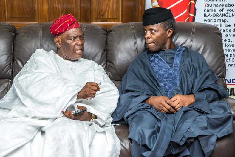 Vice President Yemi Osinbajo and Chief Bisi Akande.