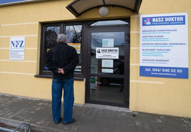Zamknięta przychodnia w Piotrkowie Trybunalskim