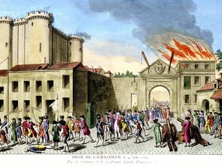 Storming of the Bastille, French Revolution, Paris, 1789.