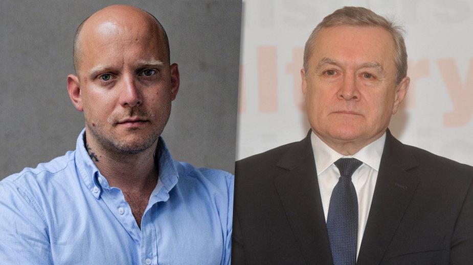 Tomasz Kolankiewicz (mat. na prawach cyt., Facebook) i Piotr Gliński