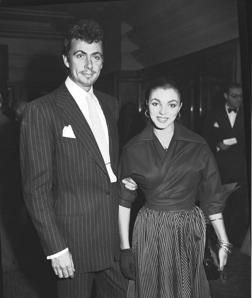 Joan Collins i Maxwell Reed