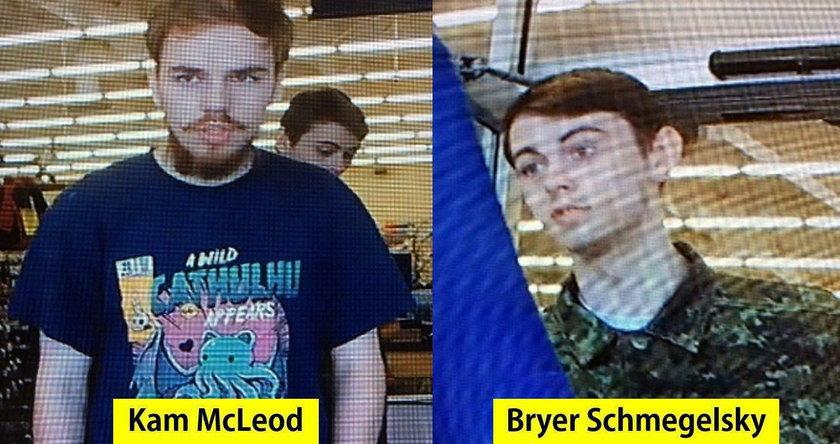 Kanadyjska policja szuka 18-letniego Bryera Schmegelsky 'ego i 19-letniego Kama McLeoda
