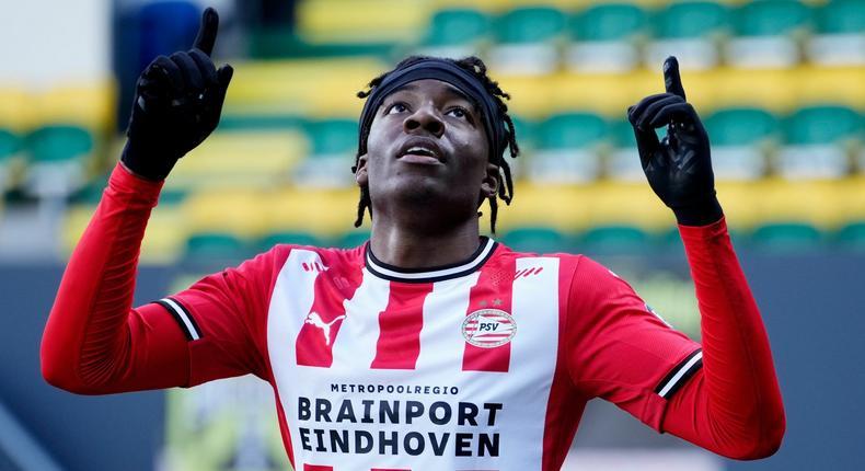 PSV forward, Noni Madueke. [skysports]