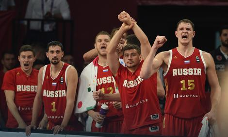 Slavlje ruskih košarkaša
