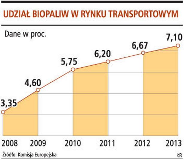 Udział biopaliw w rynku transportowym