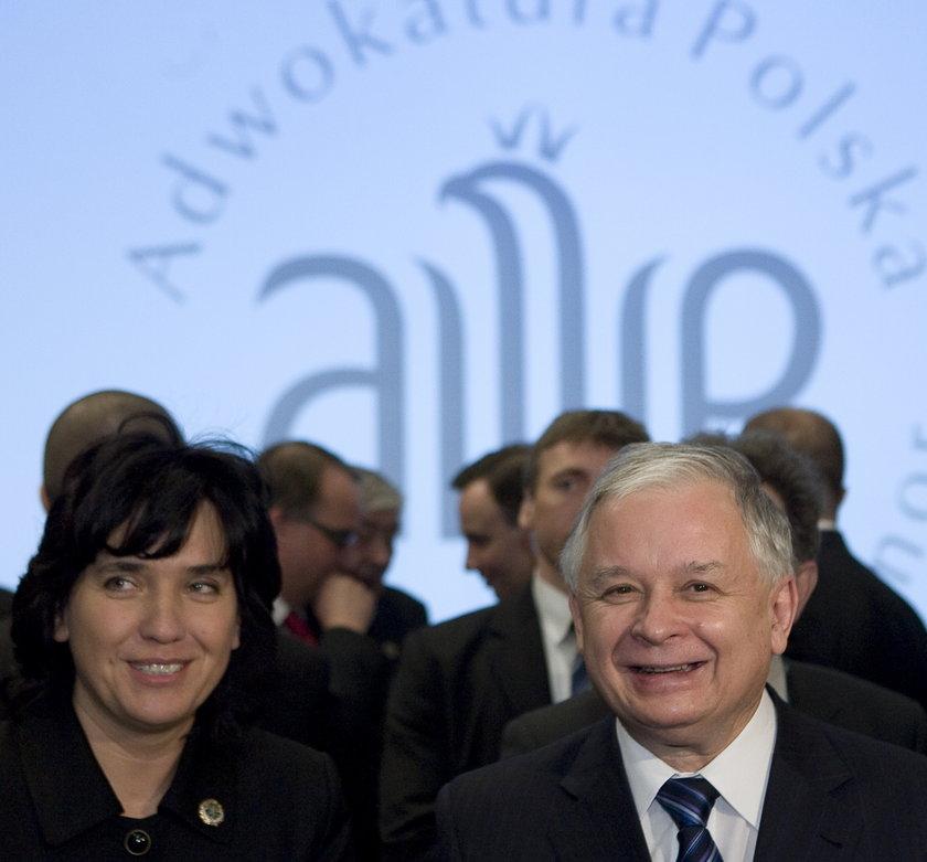 Joanna Agacka-Indecka i prezydent Lech Kaczyński