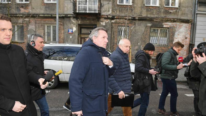 Gerald Birgfellner w drodze do prokuratury