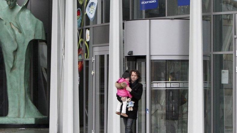 Piotr Rubik z córką
