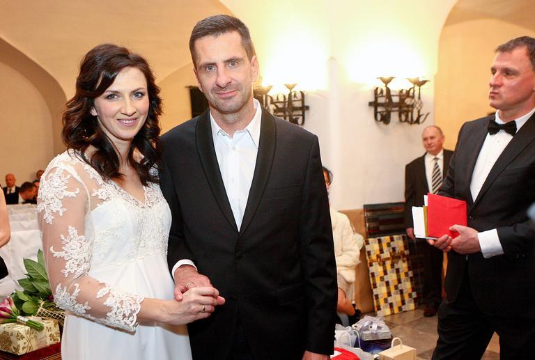 Monika Pyrek i Norbert Rokita w dniu ślubu