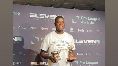 Nigerian striker Paul Onuachu wins Belgian League's Player of the Year and Golden Shoe awards after an insane season