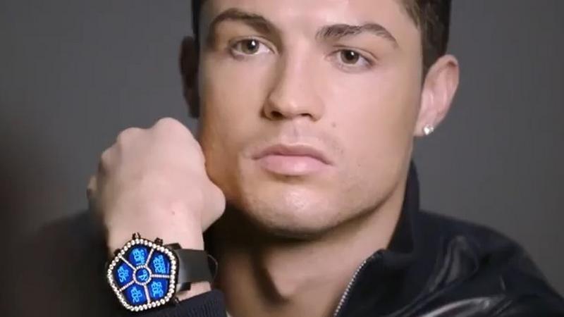 Cristiano Ronaldo w reklamie zegarków