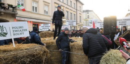Rolnicy z AGROunii zablokowali Nowy Świat