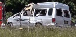 Wypadek busa Polonii w USA. Nie żyją 2 osoby, 9 jest rannych