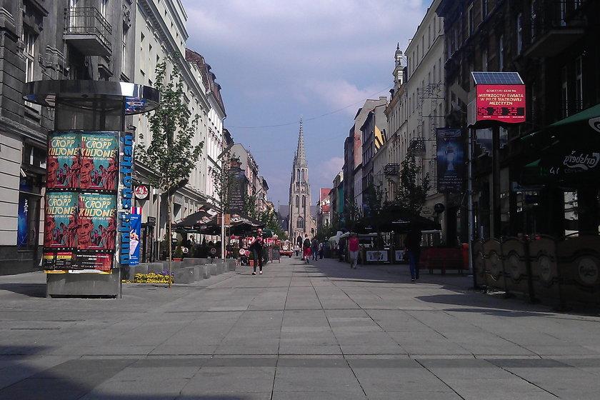 Protest w Katowicach na ul. Mariackiej