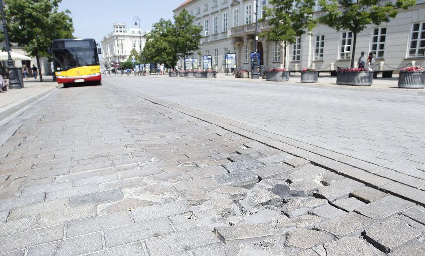 Remont na Krakowskim Przedmieściu