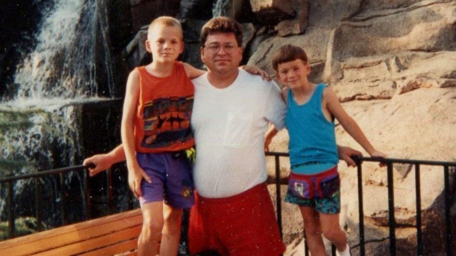 Richard Hoagland i jego synowie: (od lewej) Matthew i Douglas