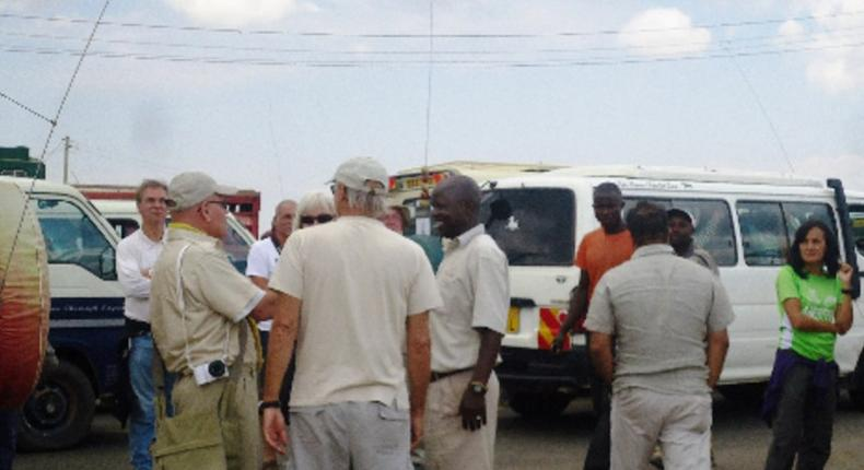 Tourists stranded at Ntulele trading centre in Narok.