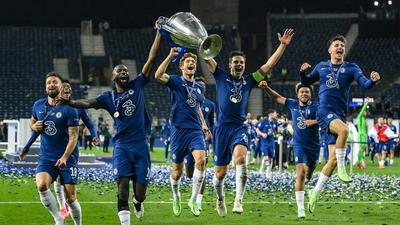 Chelsea players sing to Olamide and Omah Lay record while celebrating Champions League title