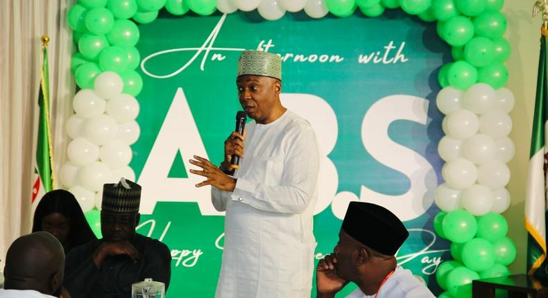 Saraki interacts with young people in Abuja on Independence Day