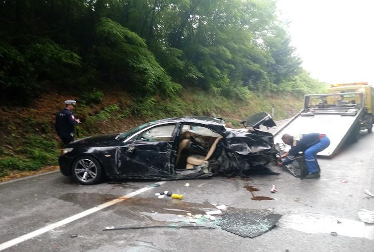 Ognjen kuzmic saobracajna nesreca prevrnut auto