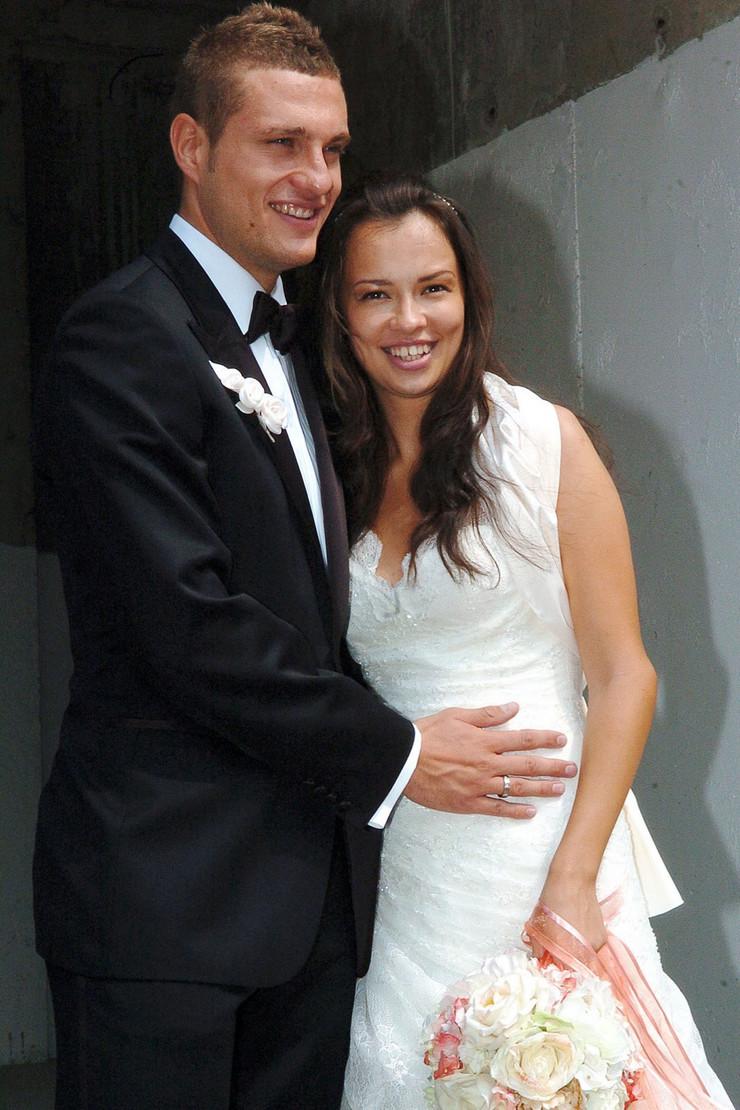 Ana Vidić i Nemanja Vidić na svom venčanju