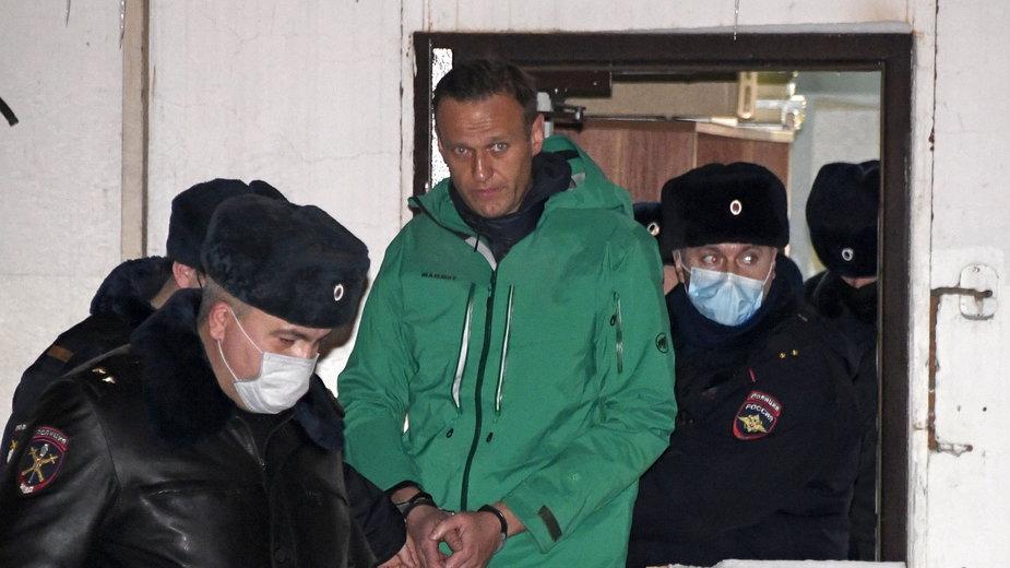 Aleksiej Nawalny podczas zatrzymania