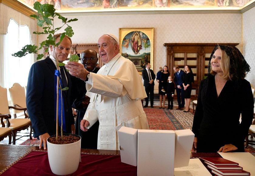 Donald Tusk z rodziną u papieża Franciszka
