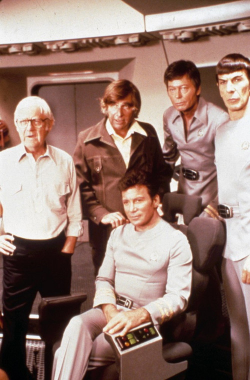 "Robert Wise i obsada filmu ""Star Trek"" (1979)"