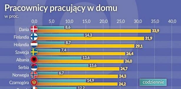 Pracownicy pracujący w domu (graf. Obserwator Finansowy)