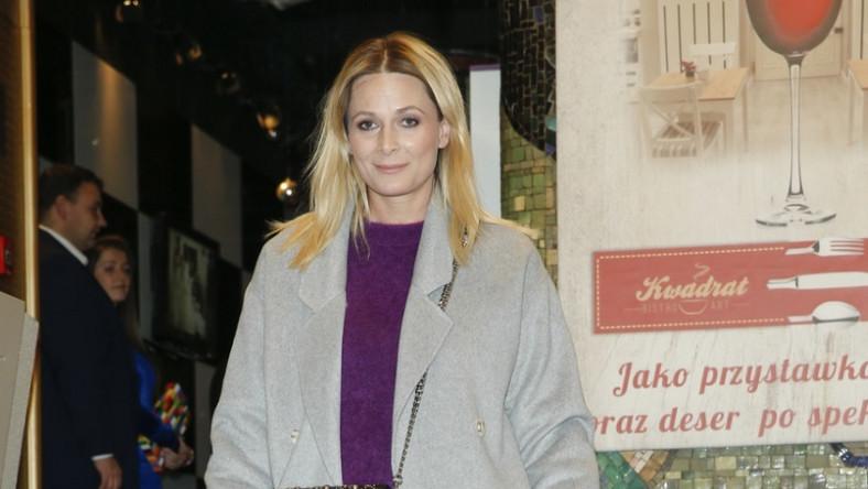 """Dziennikarka pojawiła się w miniony weekend na premierze spektaklu """"Ślub doskonały""""..."""