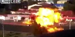 Stacja benzynowa wybuchła w środku miasta