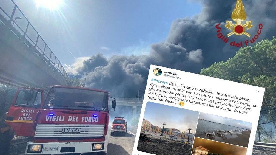 Pożary we Włoszech. Niewyobrażalne straty w Abruzji