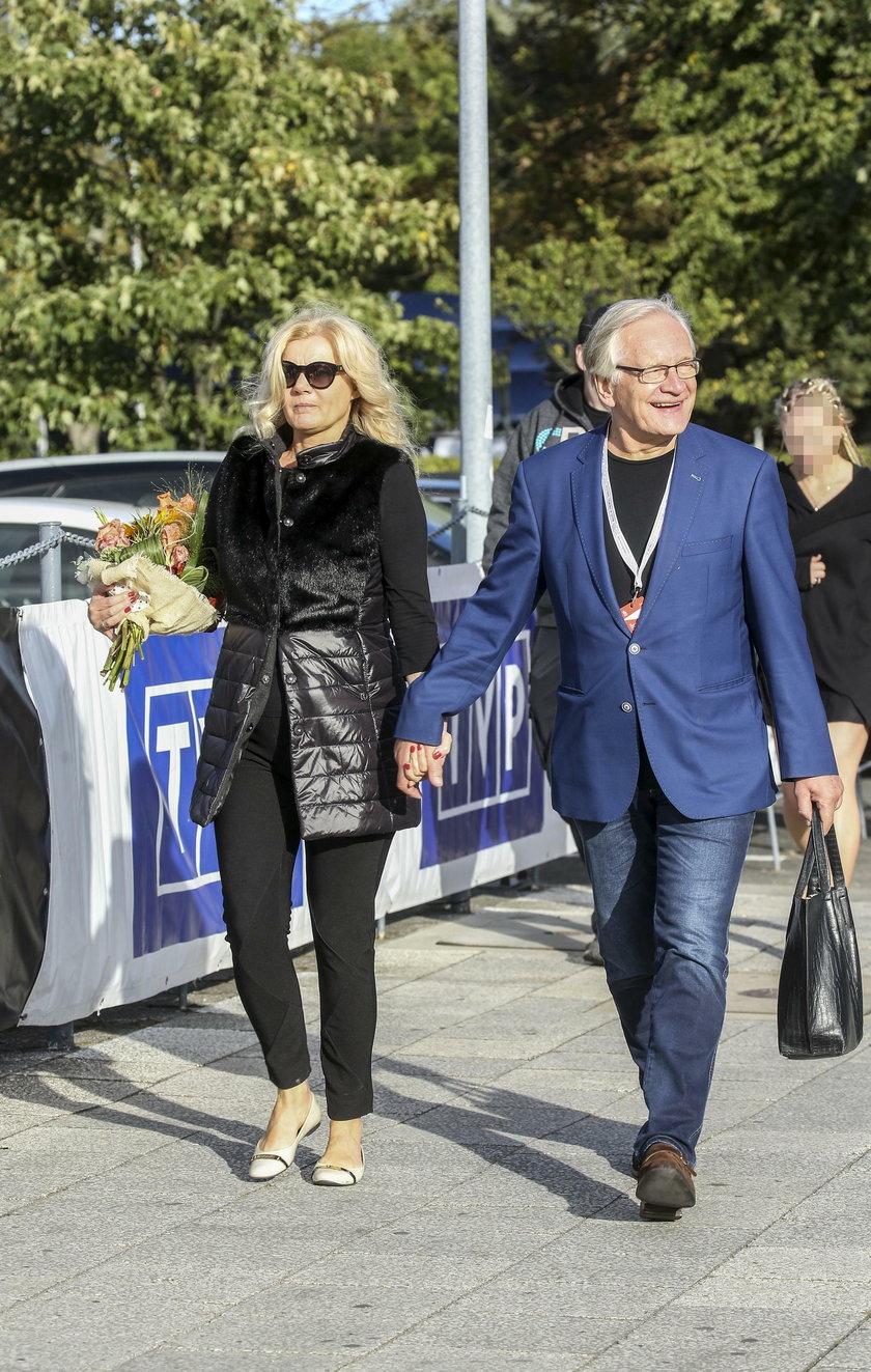 Andrzej Seweryn z żoną w Gdyni