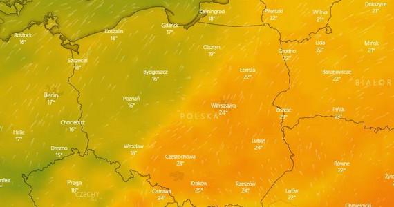 Pogoda dla Polski - 6.06. Ciepło na południu. Gdzie jest burza?