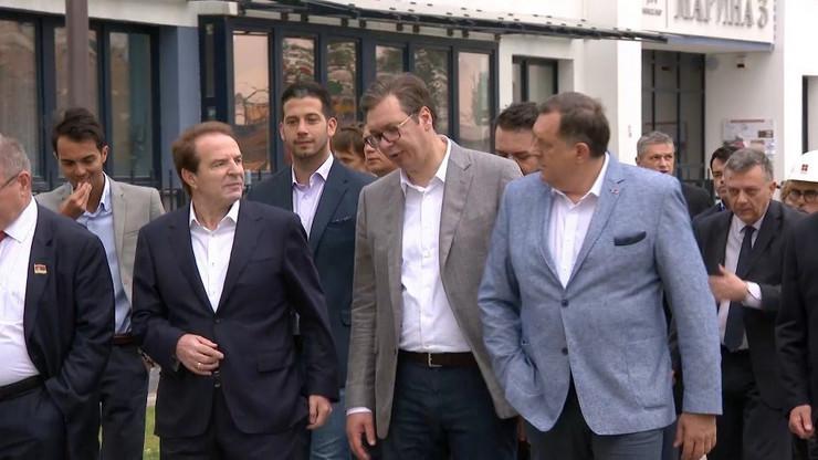 """Predsednik Srbije Aleksandar Vucic i predsedavajuci Predsednistva BiH Milorad Dodik posetili su kompleks """"Minsk World"""" (2)"""