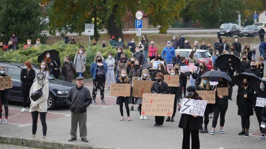 Czarny protest w Mielcu