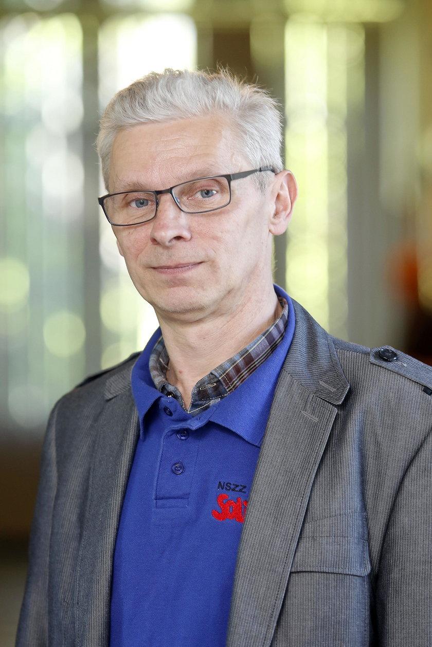 """Roman Poloczek, szef """"Solidaności"""" PEC w Bytomiu"""