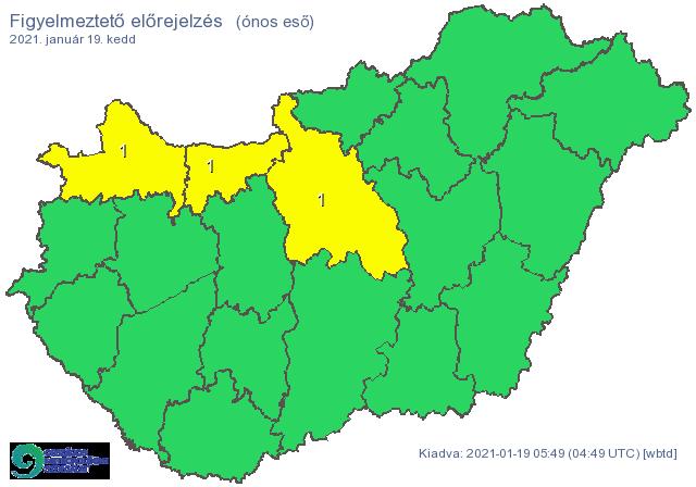 Több megyére figyelmeztetést adtak ki: ónos esőre, hófúvásra számítson ezeken a területeken