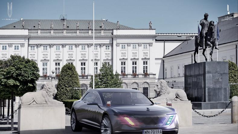Varsovia przed Pałacem Prezydenckim w Warszawie