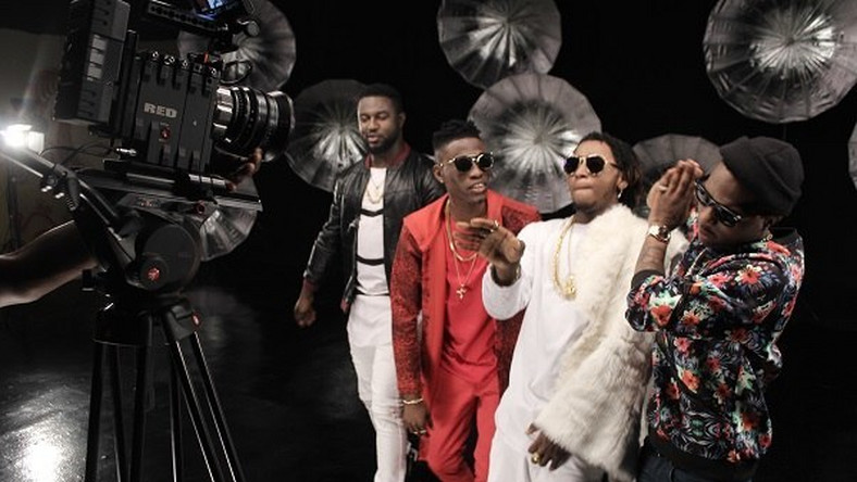 LK Kuddy, Wizkid, Yung6ix star in 'With you' (remix) video shoot
