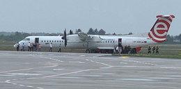 Awaryjne lądowanie samolotu w Poznaniu. Miał zepsuty silnik